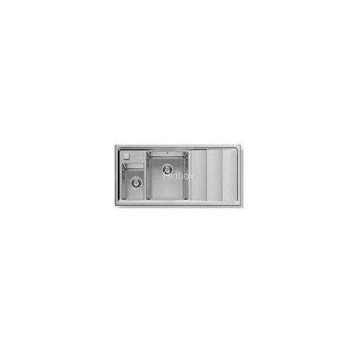 Zlewozmywak  1,5-komorowy, stalowy studio 100x50 1 1/2b prawy 107146430 + dostawa gratis wyprodukowany przez Pyramis