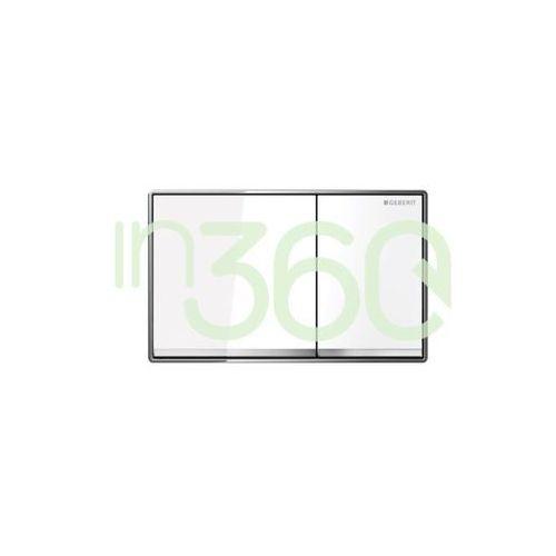 Geberit sigma60 przycisk uruchamiającyprzedni, szkło białe 115.640.si.1