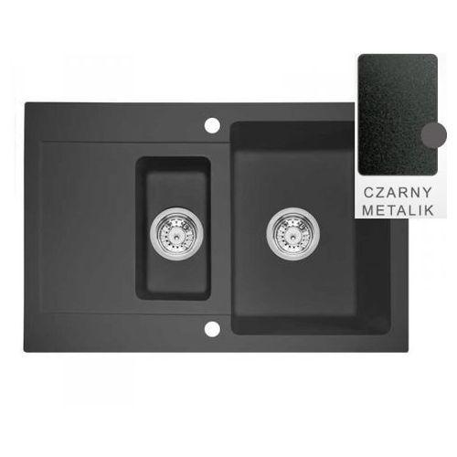 Zlewozmywak como 79.15 czarny metalik marki Śmigielski