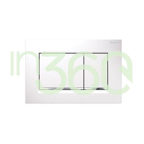 sigma30 przycisk uruchamiającyprzedni, biały-chrom bł.-biały 115.883.kj.1 marki Geberit