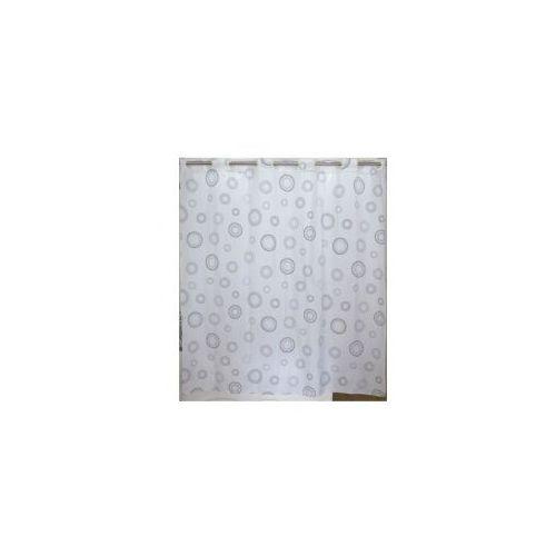 AWD INTEROR Zasłonka prysznicowa biała kółka AWD02100850, AWD02100850