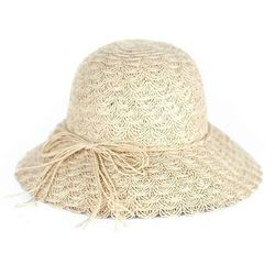 Kapelusz damski mały słomkowy na lato plażowy