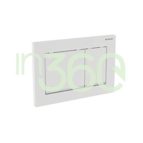 omega30 przycisk uruchamiający przedni/górny błyszczący biały/chrom 115.080.kj.1 marki Geberit