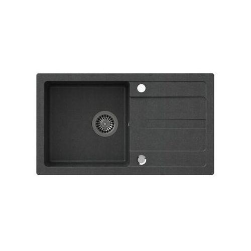 Zlewozmywak granitowy MAXIM STEINER, kolor czarny
