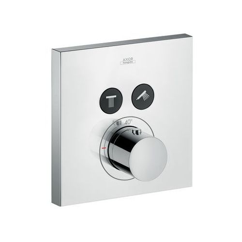 bateria termostatyczna axor showerselect square do 2 odbiorników, montaż podtynkowy, element zewnętrzny 36715000 marki Hansgrohe