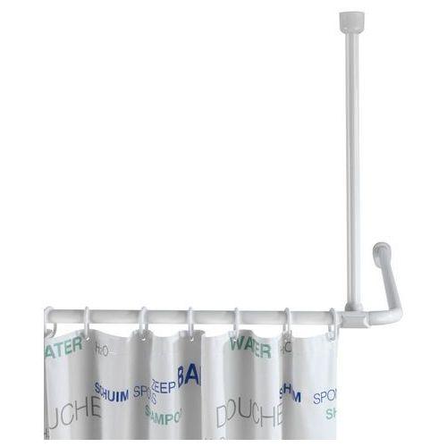 Wenko Uchwyt do zawieszenia drążka od zasłony prysznicowej, Ø 2 cm, 57 cm, biały, (4008838192139)