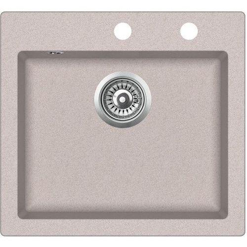 Zlewozmywak granitowy start beż 45x49x19 cm + syfon automatyczny marki Vbckueche