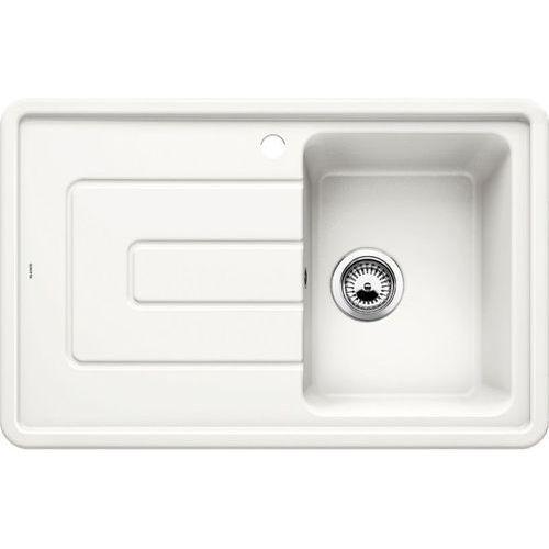 Zlewozmywak ceramiczny BLANCO TOLON 45S BIAŁY POŁYSK (komora PRAWA) z korkiem manualnym (520422) (4020684619950)