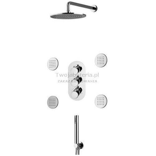 Vicario radius kompletny zestaw prysznicowy podtynkowy termostatycznydysze trzes40 marki Vicario per carlo