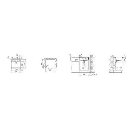 Zlew TEKA MENORCA 60 S-TG SEPIA (40144569) //OTWORY WYCINANY GRATIS//