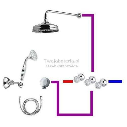 Giulini giovanni odessa kompletny zestaw prysznicowy deszczownica słuchawka z uchwytem swarovski przezroczysty 39zes20odessa