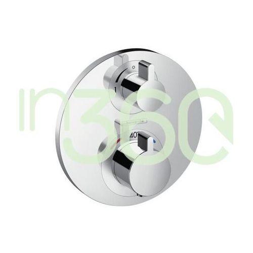 Hansgrohe ecostat s bateria termostatyczna podtynkowa z zaworem odcinającym, element zewnętrzny chrom 15757000