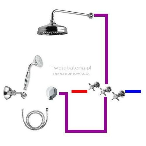 g5 kompletny zestaw prysznicowy deszczownica słuchawka z uchwytem gg2g5 marki Giulini giovanni