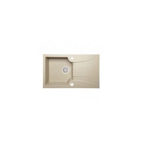 LAVEO DEVON Zlewozmywak granitowy 78x46x17cm, beżowy SGV 411T
