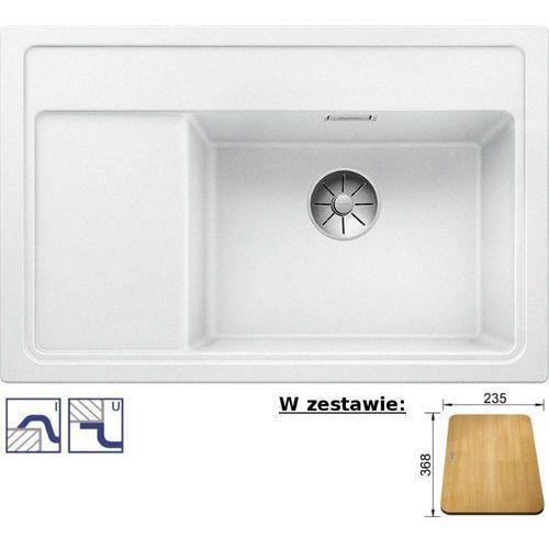 Zlewozmywak zenar xl 6s compact silgranit puradur biały z korkiem infino i deską drewnianą, z kork. aut. prawa komora marki Blanco