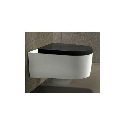LORENT Miska WC wisząca + czarna deska duroplast wolnoopadająca, miska_lorentczarma_deska_duroplast