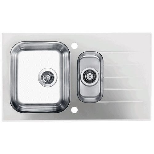 Zlewozmywak glassix 20 pop-up 3 1/2 1100016 satyna - biały marki Alveus