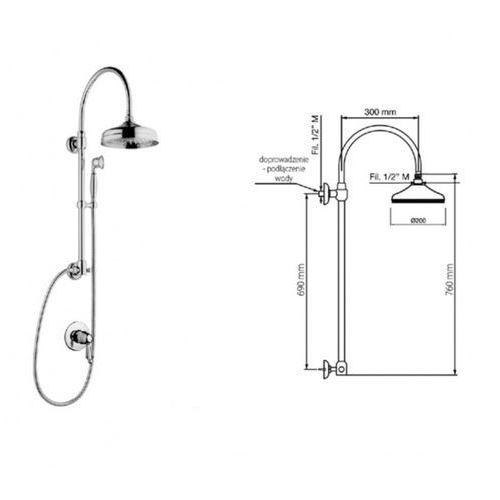 Giulini G Harmony Crystal zestaw prysznicowy 9515/S-01261 SKORZYSTAJ Z DODATKOWYCH RABATÓW NA WYBRANE FABRYKI