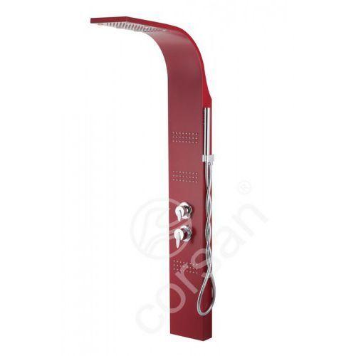 Corsan royal panel prysznicowy rubinowy z mieszaczem led a-013s royal ral3003
