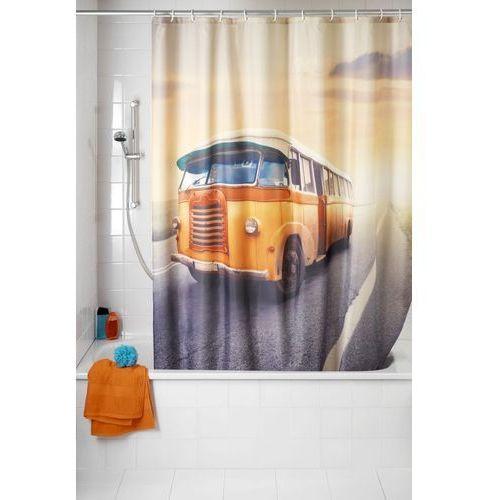 Zasłona prysznicowa, tekstylna, Vintage Bus, 180x200 cm, WENKO (4008838537992)