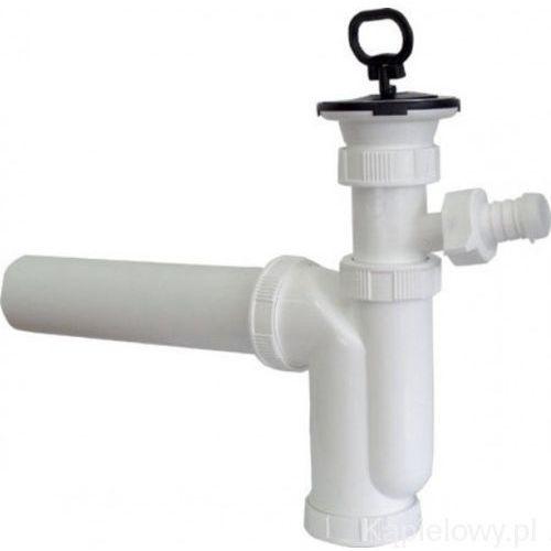 Sapho Syfon zlewozmywakowy 50mm ze złączem do pralki, korek z uchwytem cv1018