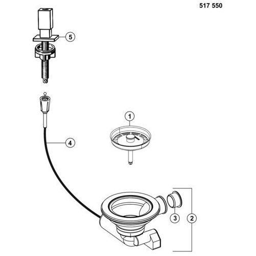 Korek automatyczny BLANCO 517550, 517550