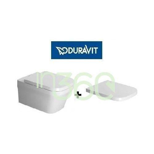 p3 comforts miska wc wisząca bezrantowa 38x57 biała z deską wolnoopadającą (2561090000+ 0020390000) 2561090000+0020390000 marki Duravit