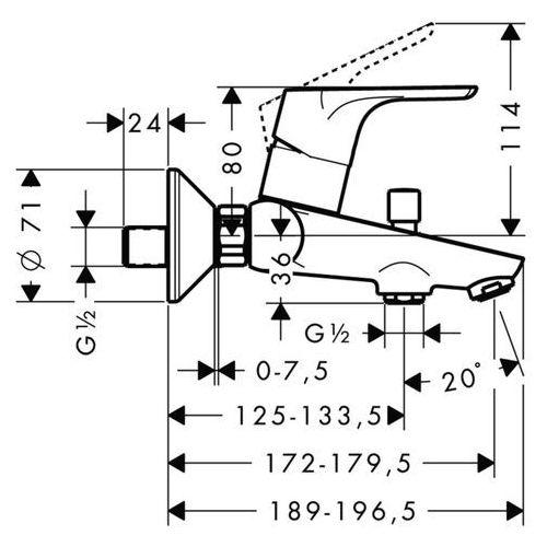 Bateria Hansgrohe FOCUS E² 31940000