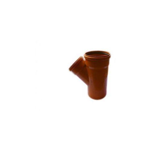 Trójnik kanalizacji zewnętrznej kz 200 x 160 / 45° 200 / 160 mm marki Poliplast
