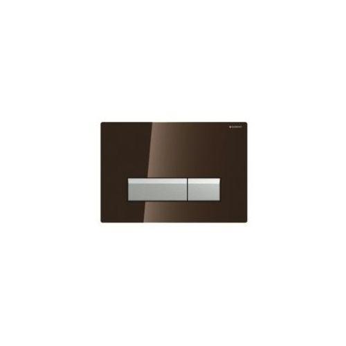 GEBERIT przycisk Sigma 40 DuoFresh szkło umbra/aluminium 115.600.SQ.1, 115.600.SQ.1