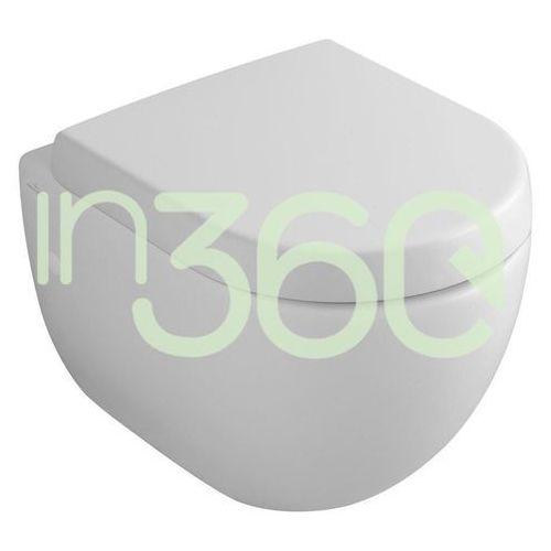 subway miska wc wisząca, 375 x 565 mm, weiss alpin ceramicplus 660010r1 marki Villeroy & boch