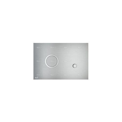 Przycisk spłuczki podtynkowej, metal-mat sting marki Alcaplast