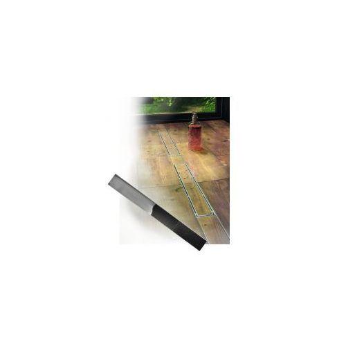 LAVEO Odpływ Liniowy Podłogowy pod płytkę COV 210D Stal nierdzewna PLADO 100 cm - Niska Zabudowa Wysokość 58 mm, COV 210D