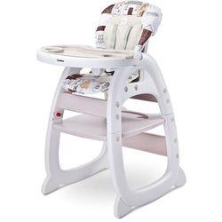 homee beige krzesełko do karmienia 2w1 + puzzle marki Caretero