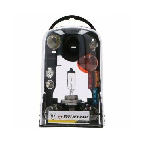 Zestaw żarówek samochodowych DUNLOP H7 + Bezpieczniki