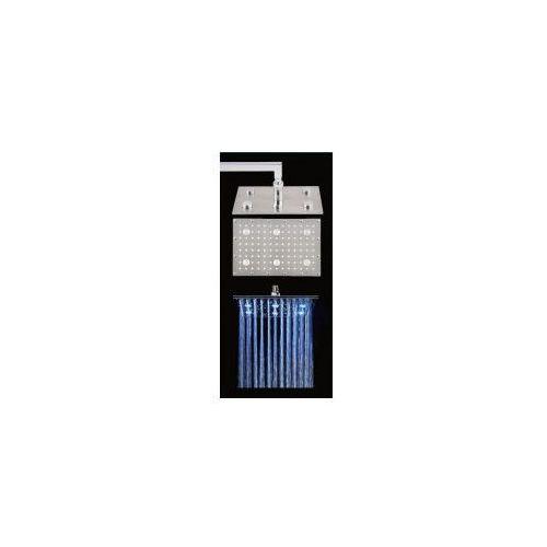 CORSAN Deszczownica prostokątna 30x20 LED, mosiądz, chrom CMD30