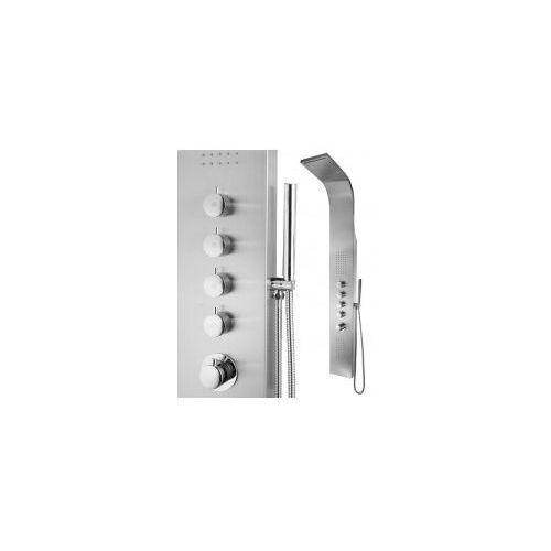 INEA Panel prysznicowy LED z termostatem, stal szczotkowana IN-8839LT