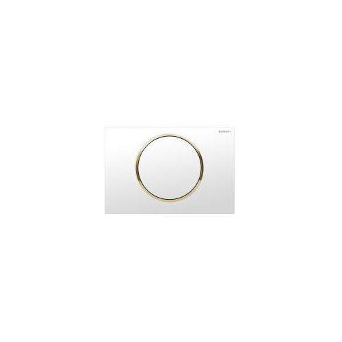 Geberit Sigma10 przycisk uruchamiający przedni do spłuczek podtynkowych up320 biały/pozłacany/biały - 115.758.kk.5 (4025416197928)