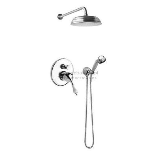 vara kompletny zestaw prysznicowy deszczownica słuchawka retro 3852 marki Fromac retro