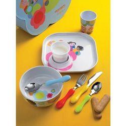 - zestaw do jedzenia dla dzieci baby bloom - 7 części marki Casa bugatti