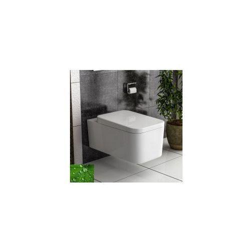 CUBIC RIMLESS Miska WC wisząca + deska wolnoopadająca
