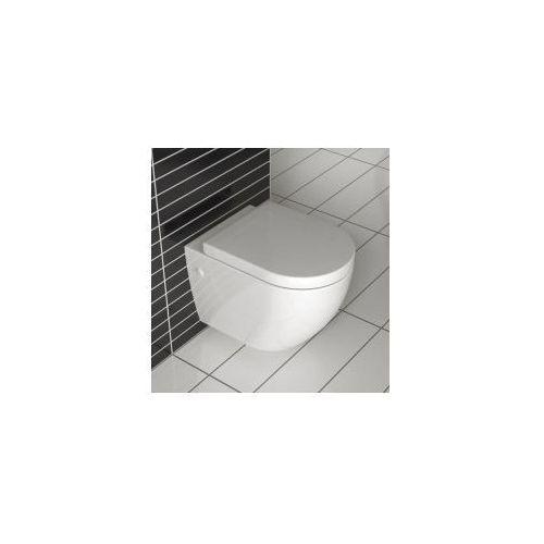 Rea Carlo mini rimless lux miska wc wisząca bezrantowa + deska wolnoopadająca
