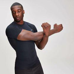 Męski t-shirt z krótkimi rękawami base layer – czarny - xl marki Mp