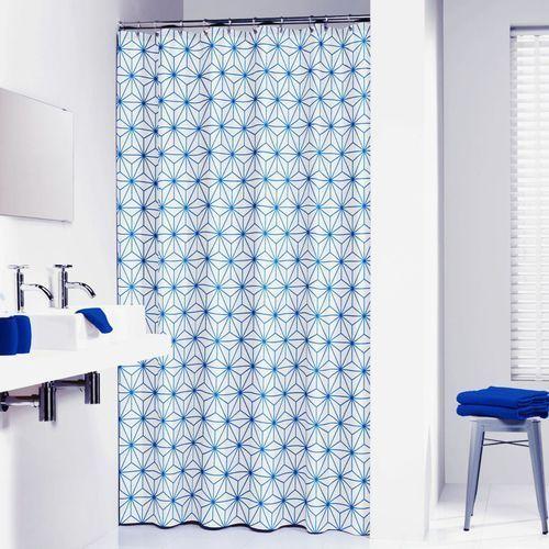 Sealskin zasłona prysznicowa triangles, 180 cm, niebieska, 233011321 (8717821617141)