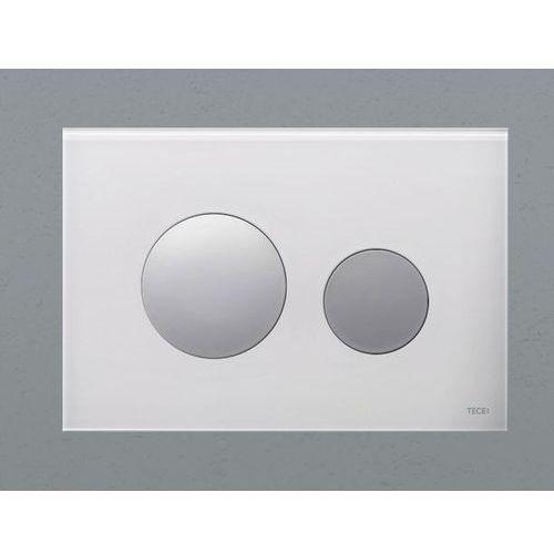 Tece przycisk spłukujący teceloop szkło białe, przyciski chrom mat 9240659