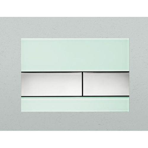 Tece przycisk spłukujący TeceSquare szkło zielone/przyciski chrom połysk 9240805