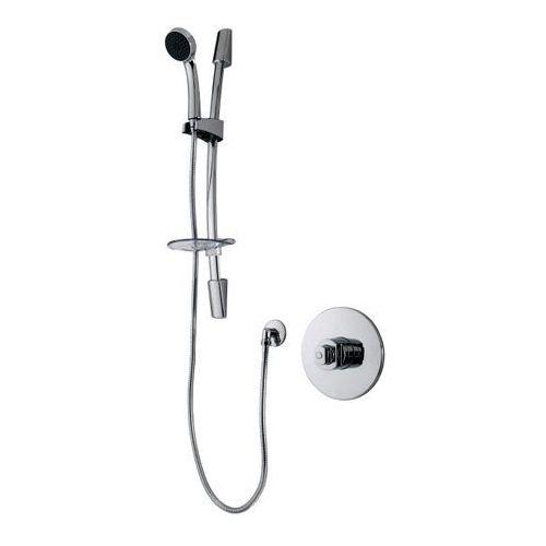 Zestaw prysznicowy Cooke&Lewis Lunda 1-funkcyjna z baterią termostatyczną chrom, 78045-0001