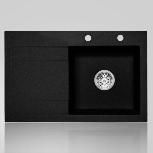 Zlewozmywak ŚMIGIELSKI MILANO 80 R czarny metalik