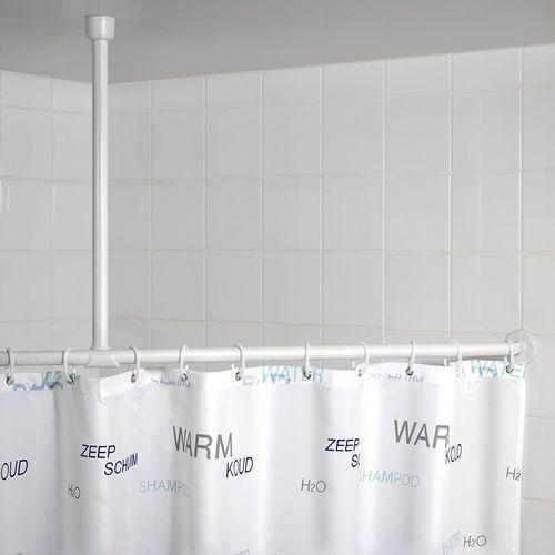 Uchwyt do zawieszenia drążka od zasłony prysznicowej, Ø 2,5 cm, 57 cm, chrom, WENKO, B000SLU98E