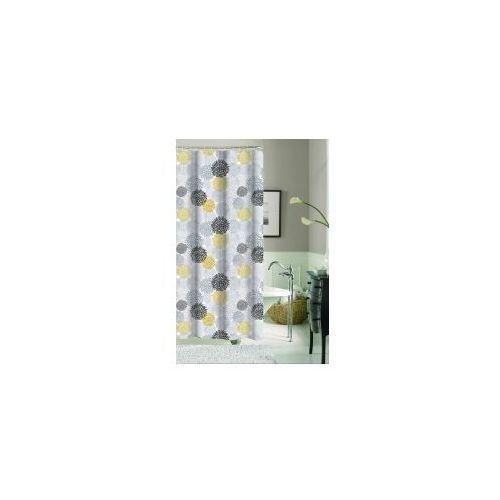 Galicja zasłonka prysznicowa kwiatki 180 x 200 poliestrowa 9472 wz 5